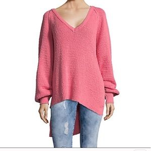 Free People Asymmetrical V Neck Sweater